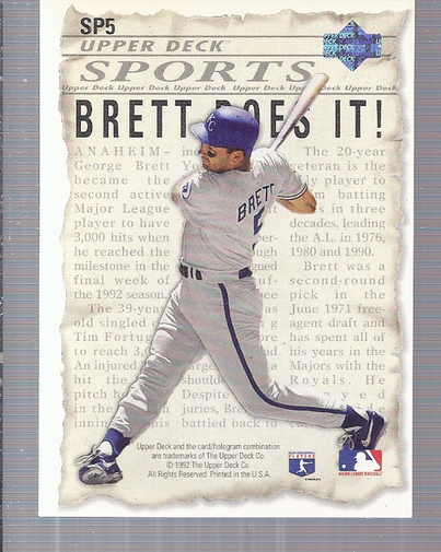 1993 Upper Deck #SP5 G.Brett/R.Yount