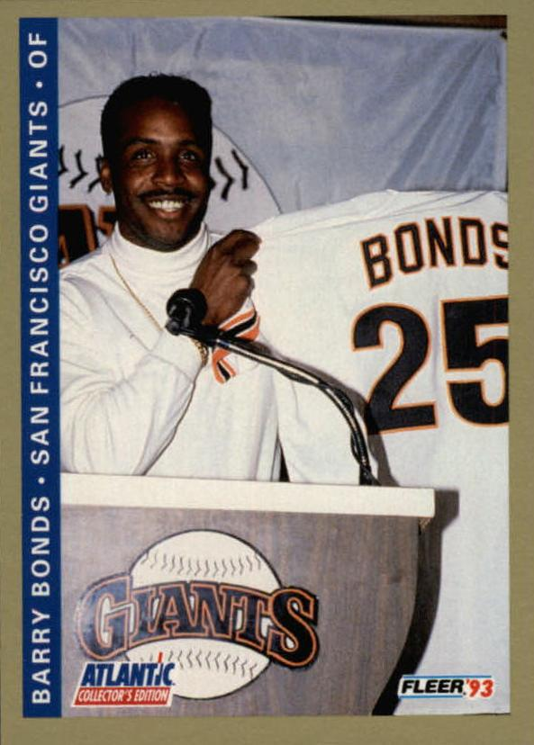 1993 Fleer Atlantic #2 Barry Bonds