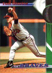 1993 Braves Stadium Club #1 Tom Glavine