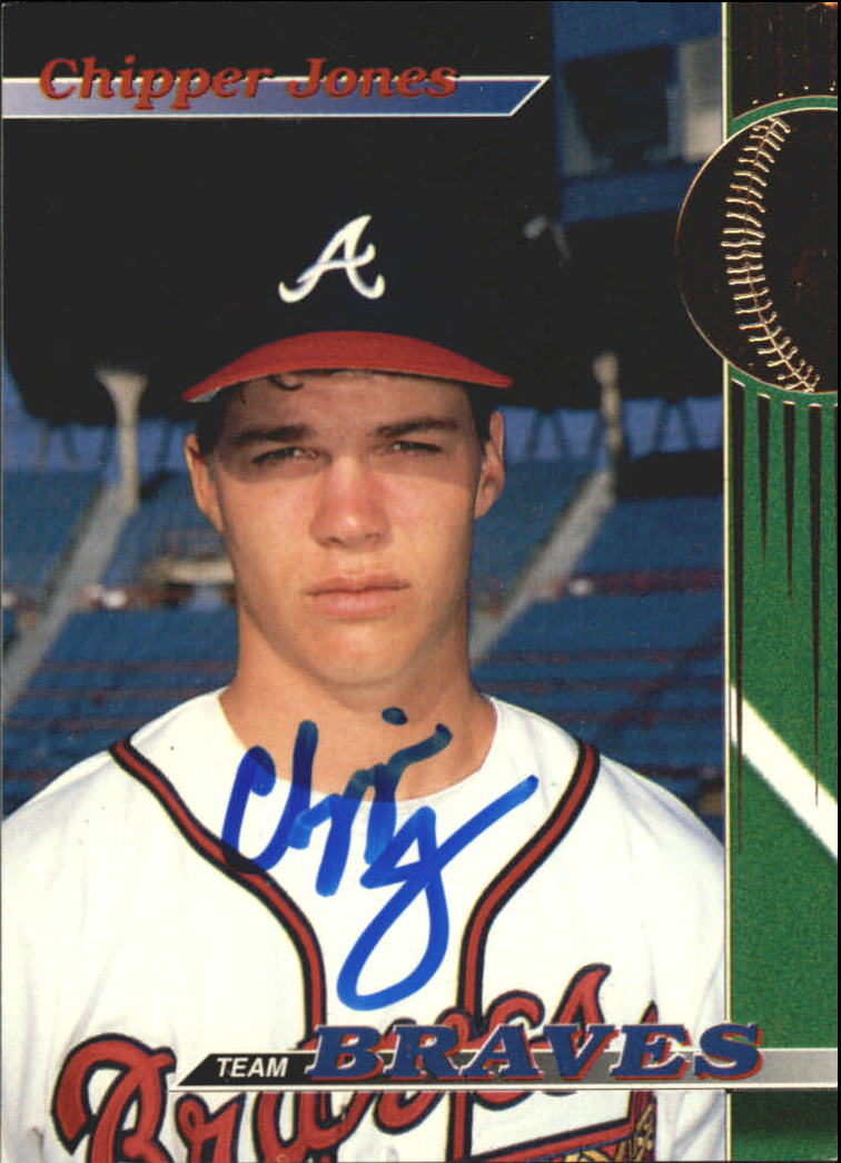 1993 Braves Stadium Club #9 Chipper Jones