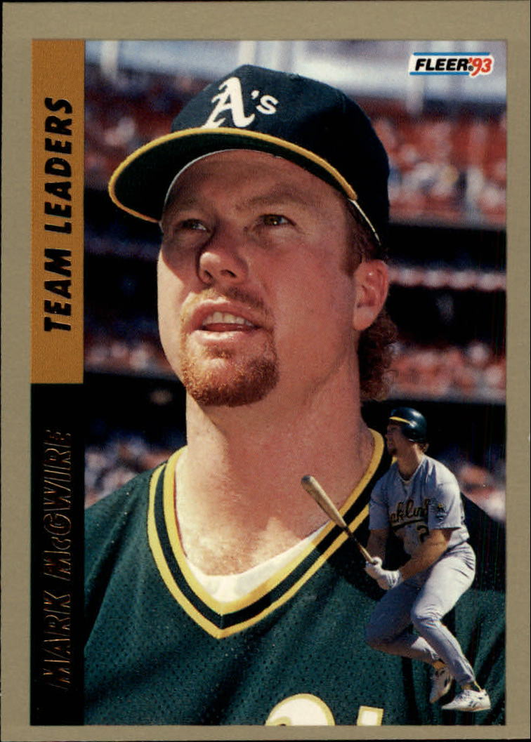 1993 Fleer Team Leaders #AL2 Mark McGwire