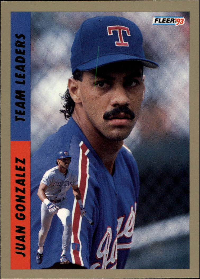 1993 Fleer Team Leaders #AL8 Juan Gonzalez