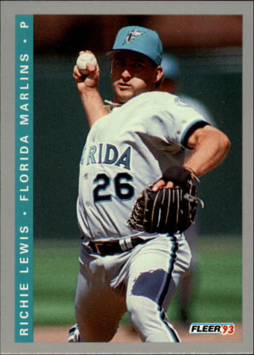 1993 Fleer Final Edition #65 Richie Lewis RC UER/Refers to place of birth and/residence as Illinois instead of Indiana