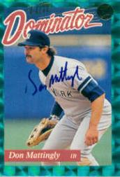 1993 Donruss Elite Dominators #AU6 Don Mattingly AU