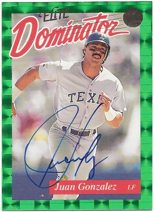 1993 Donruss Elite Dominators #AU11 Juan Gonzalez AU