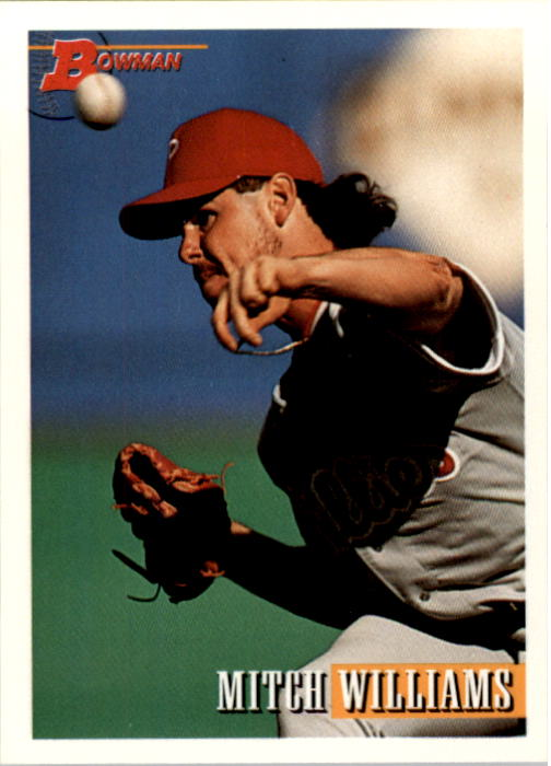 1993 Bowman #328 Mitch Williams