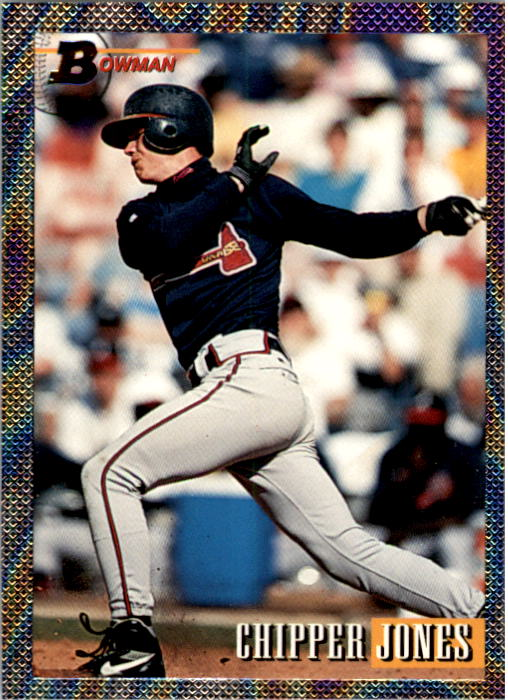 1993 Bowman #347 Chipper Jones FOIL