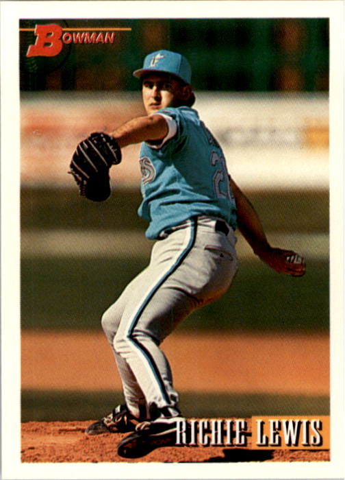 1993 Bowman #502 Richie Lewis RC