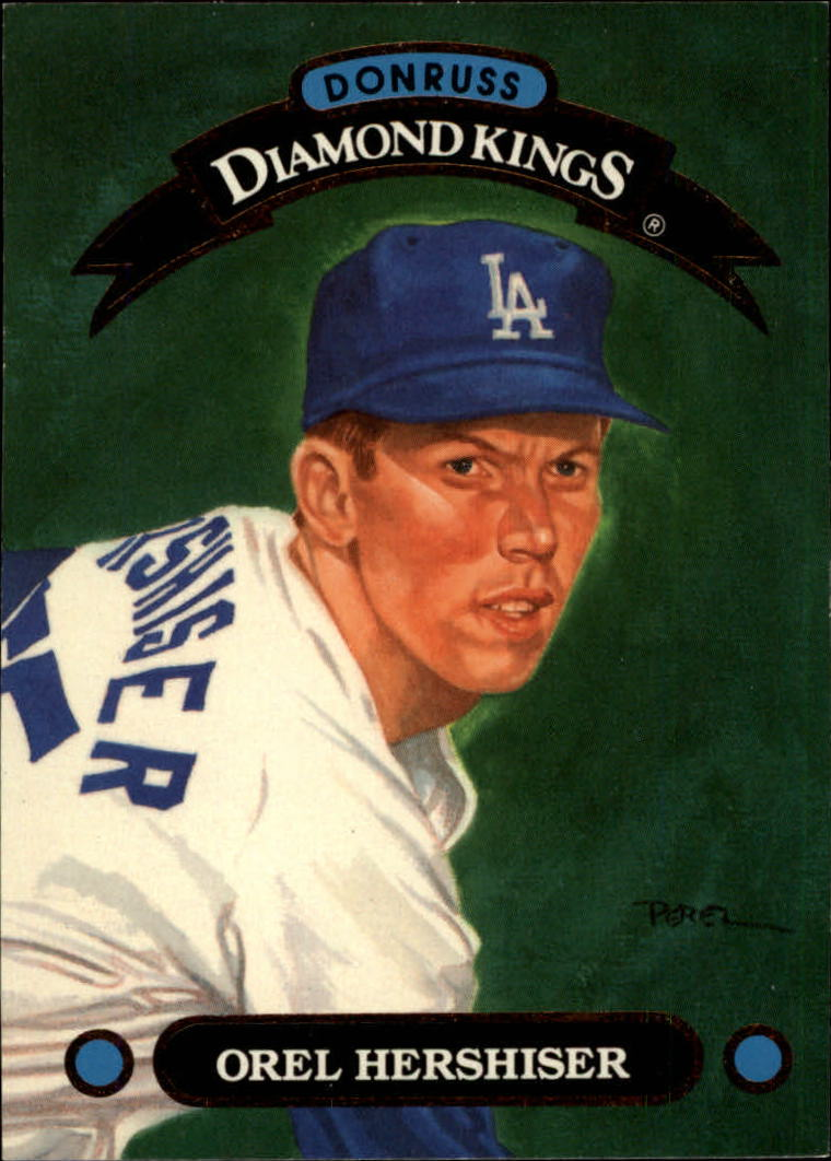 1993 Donruss Diamond Kings #DK14 Orel Hershiser