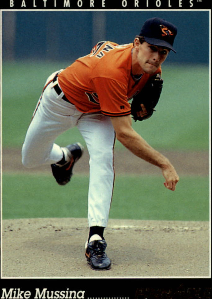1993 Pinnacle #44 Mike Mussina