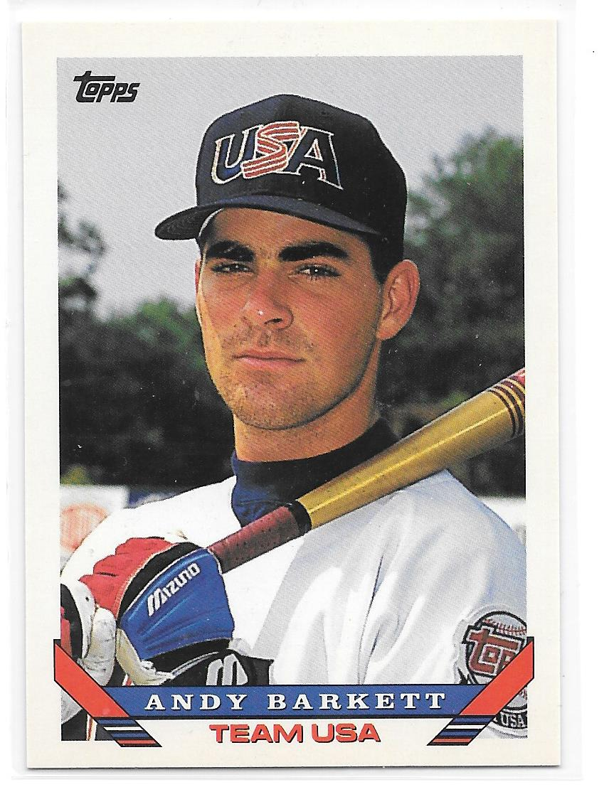 1993 Topps Traded #93T Andy Barkett USA RC