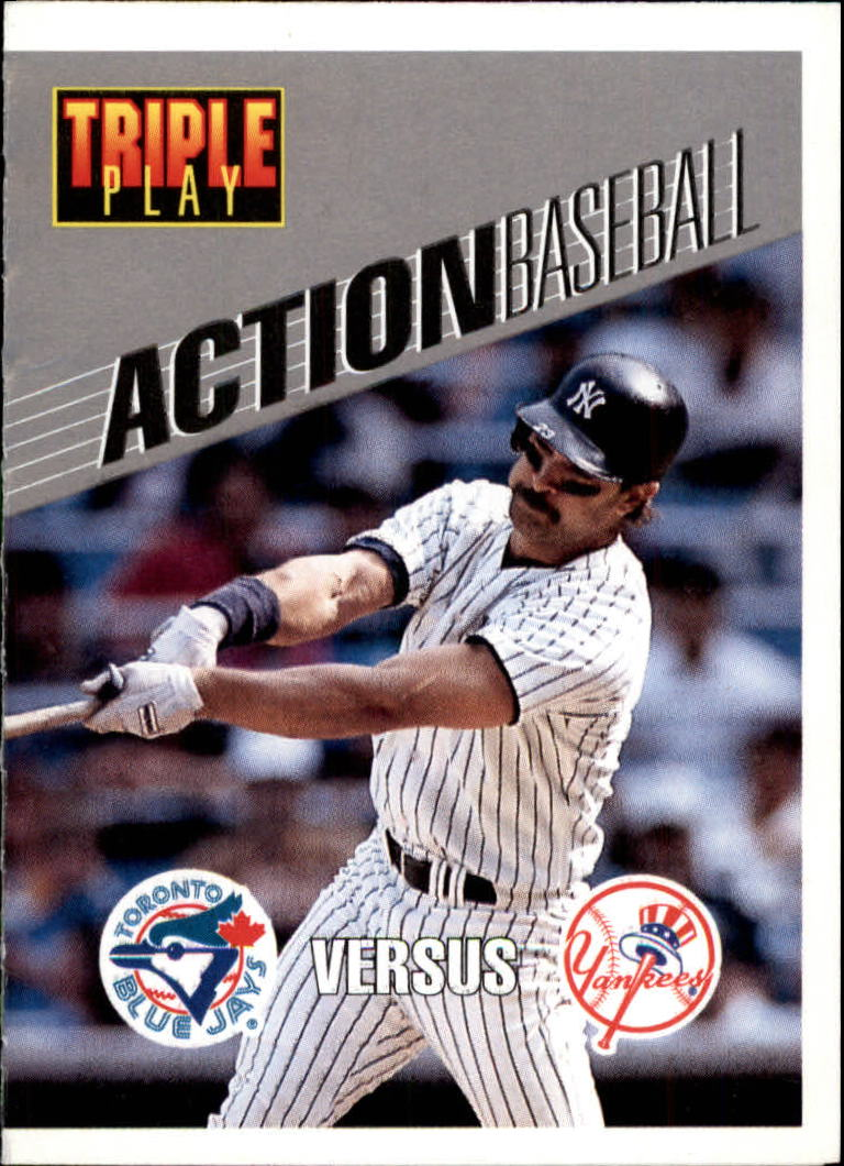 1993 Triple Play Action #19 Don Mattingly