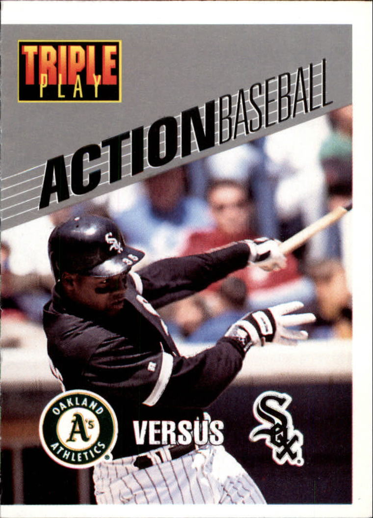 1993 Triple Play Action #21 Frank Thomas
