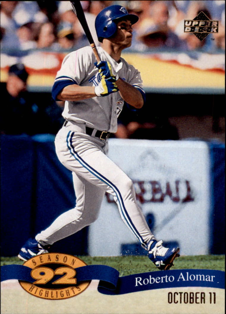1993 Upper Deck Season Highlights #HI1 Roberto Alomar