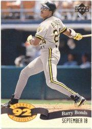 1993 Upper Deck Season Highlights #HI5 Barry Bonds