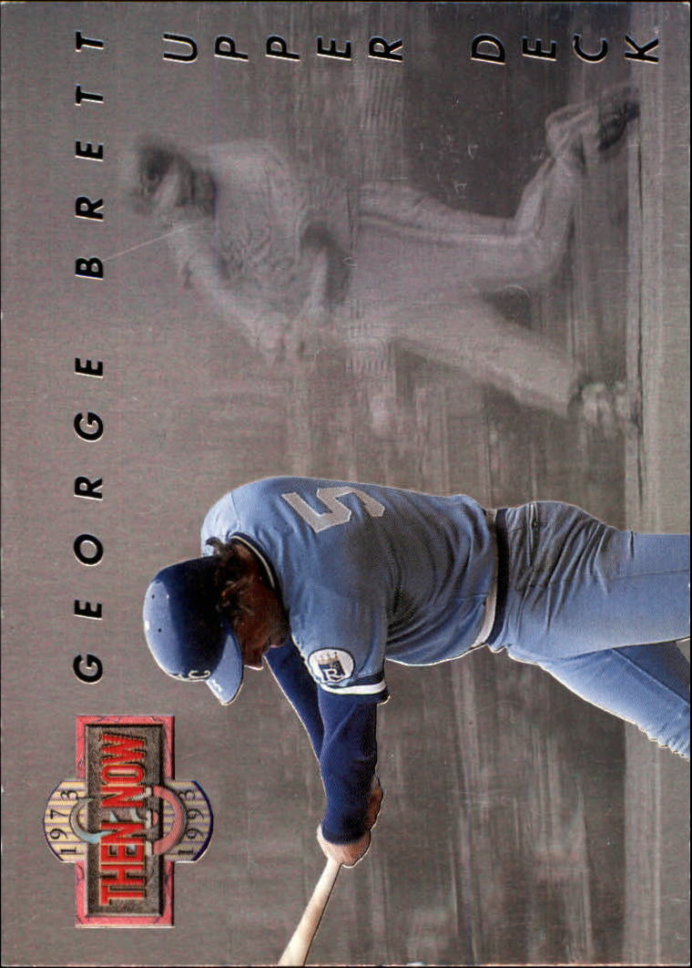 1993 Upper Deck Then And Now #TN2 George Brett front image