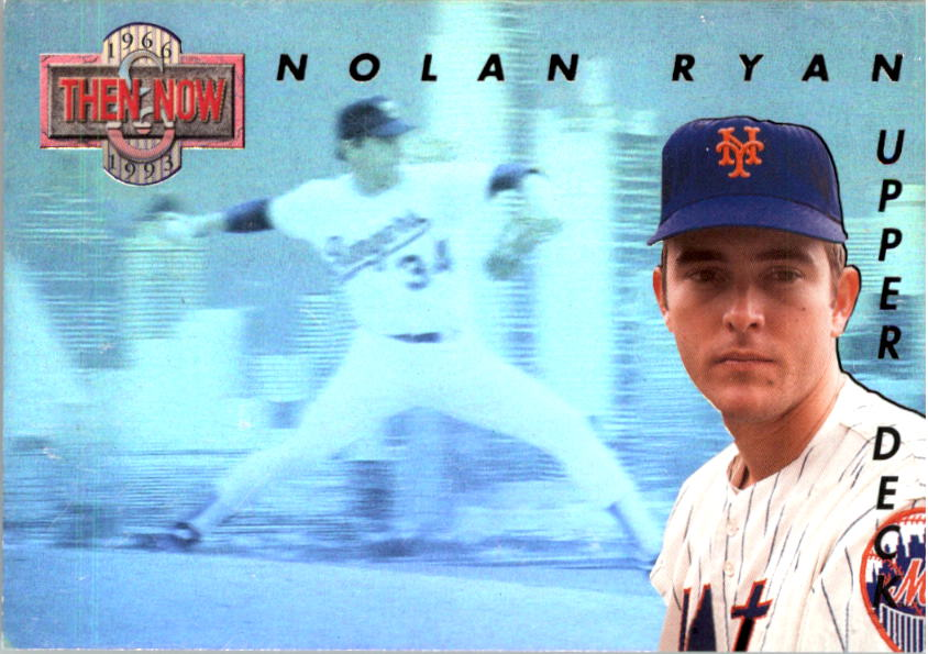 1993 Upper Deck Then And Now #TN5 Nolan Ryan