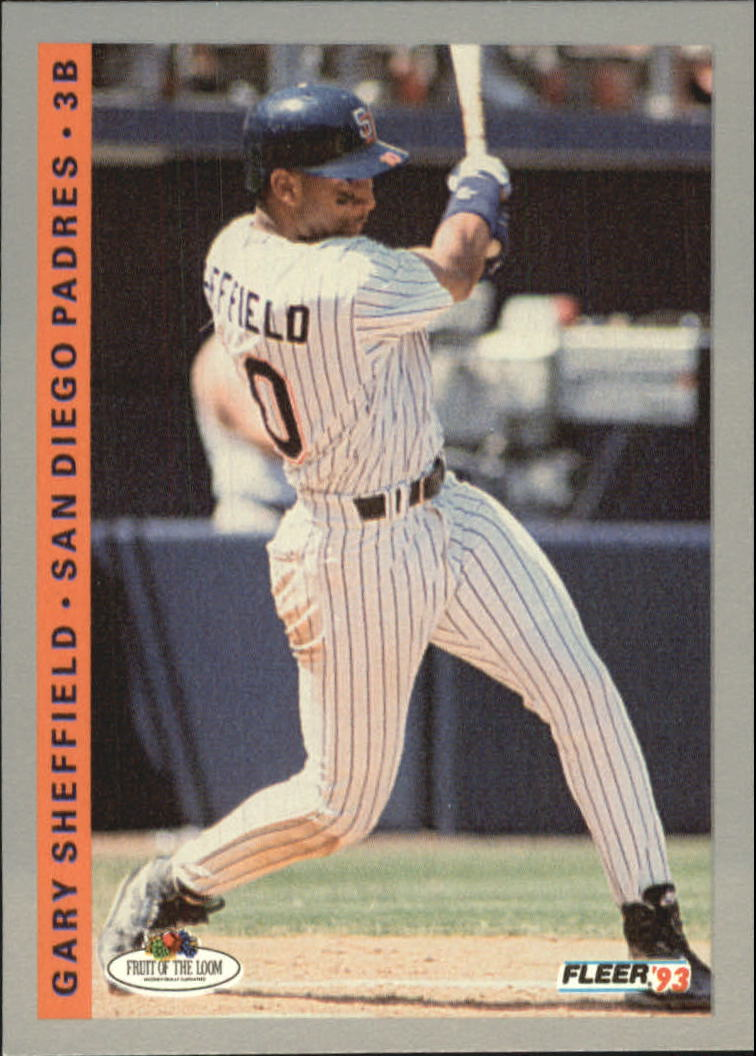 1993 Fleer Fruit of the Loom #57 Gary Sheffield