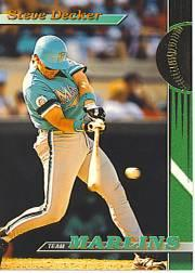 1993 Marlins Stadium Club #15 Steve Decker
