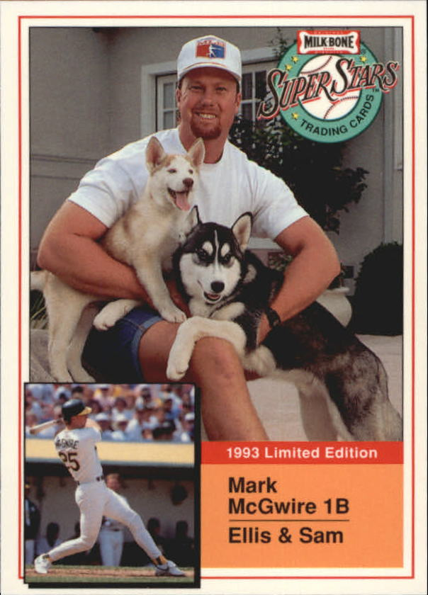 1993 Milk Bone Super Stars #4 Mark McGwire