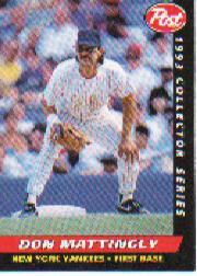 1993 Post #12 Don Mattingly