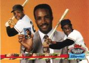 1993 Stadium Club Ultra-Pro #1 Barry Bonds/Willie Mays/Bobby Bonds