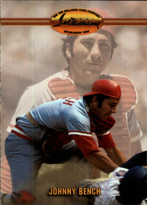 1993 Ted Williams #28 Johnny Bench front image