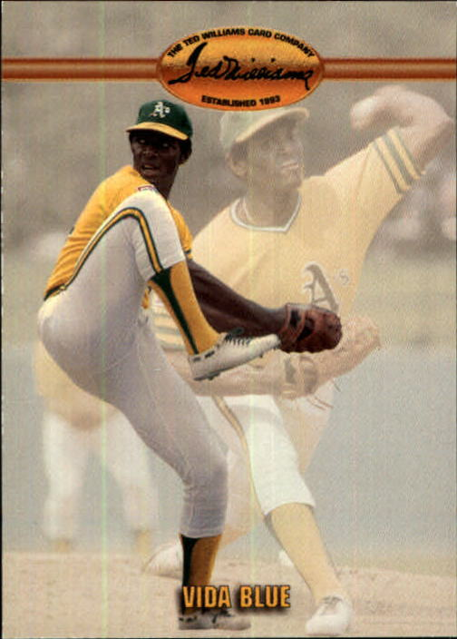 1993 Ted Williams #43 Vida Blue front image