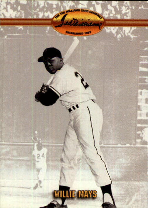 1993 Ted Williams #55 Willie Mays front image