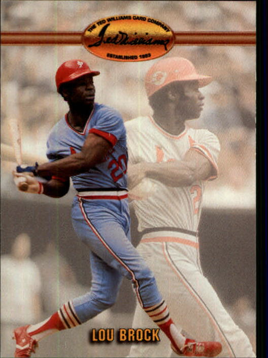 1993 Ted Williams #86 Lou Brock