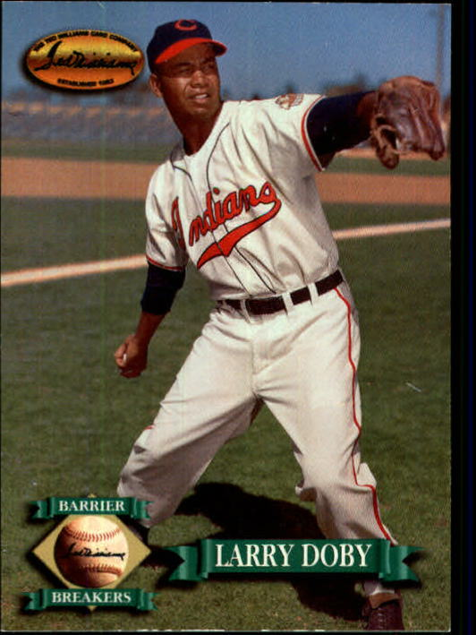 1993 Ted Williams #134 Larry Doby UER/(Misspelled Dolby/on card back) front image