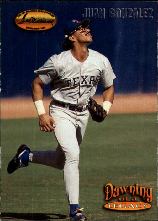 1993 Ted Williams #151 Juan Gonzalez/Footsteps to Greatness