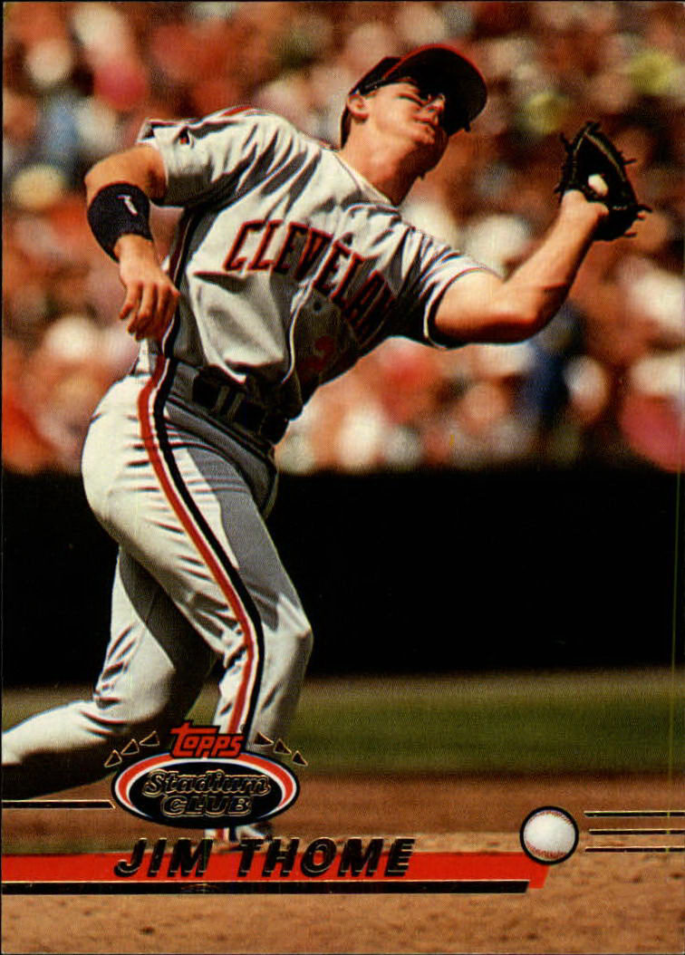 1993 Stadium Club #8 Jim Thome
