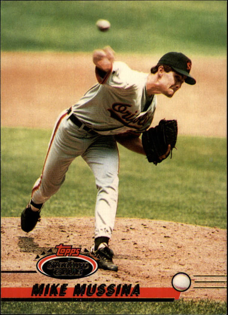 1993 Stadium Club #77 Mike Mussina
