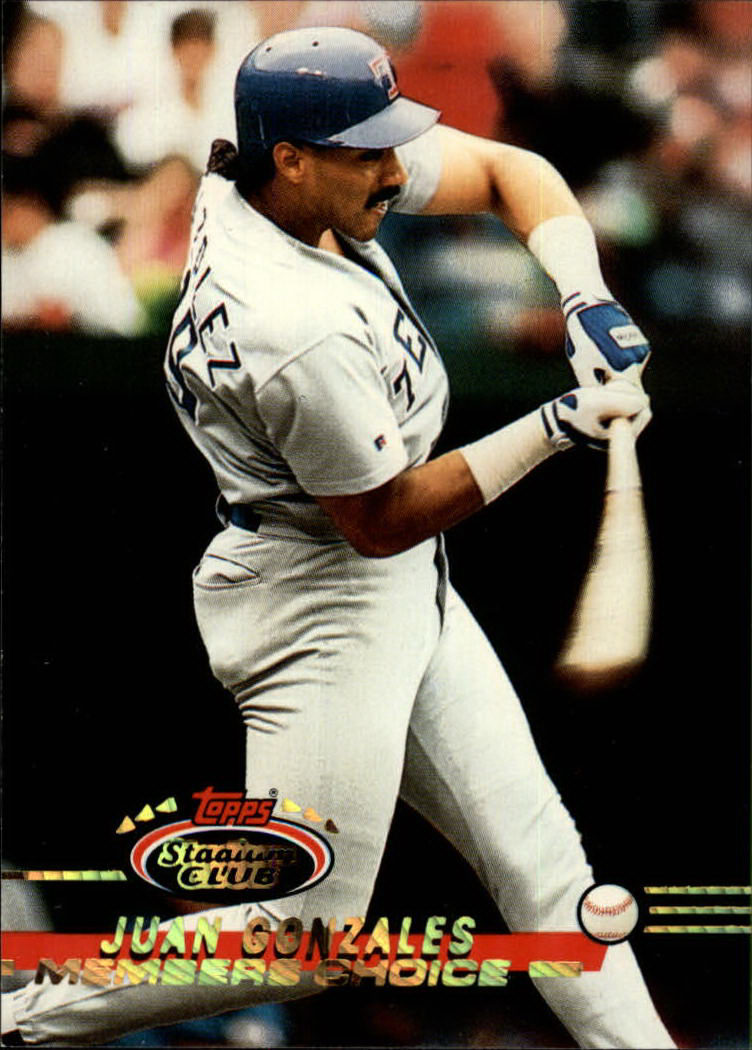 1993 Stadium Club #297 Juan Gonzalez MC