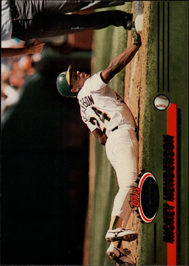 1993 Stadium Club #558 Rickey Henderson