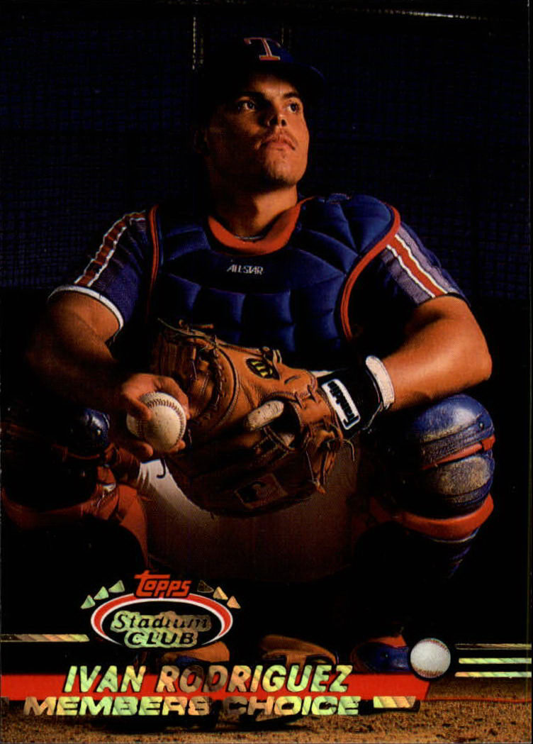 1993 Stadium Club #592 Ivan Rodriguez MC