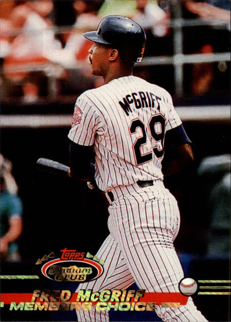 1993 Stadium Club #594 Fred McGriff MC