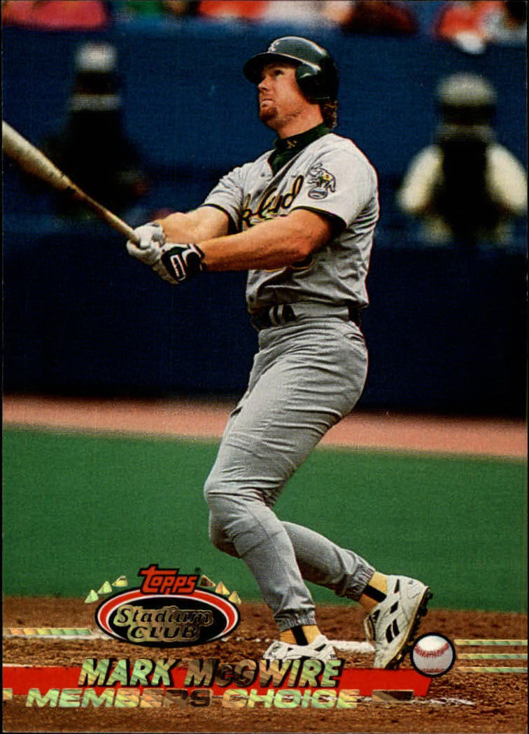 1993 Stadium Club #595 Mark McGwire MC