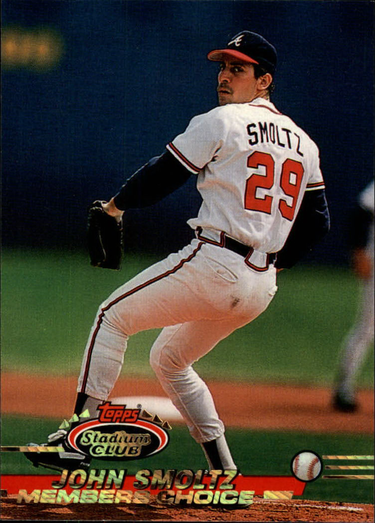 1993 Stadium Club #599 John Smoltz MC