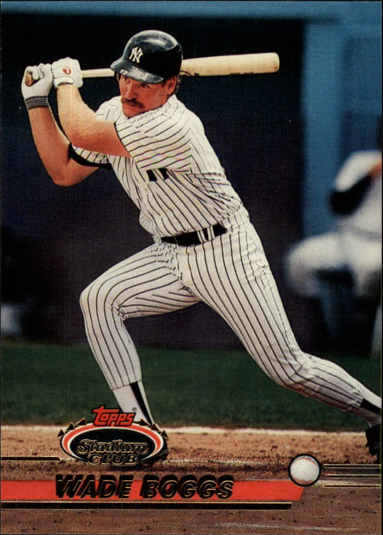 1993 Stadium Club #601 Wade Boggs