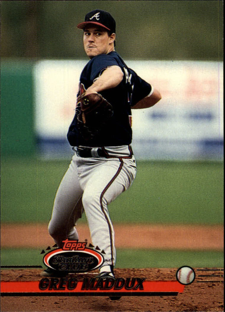 1993 Stadium Club #665 Greg Maddux