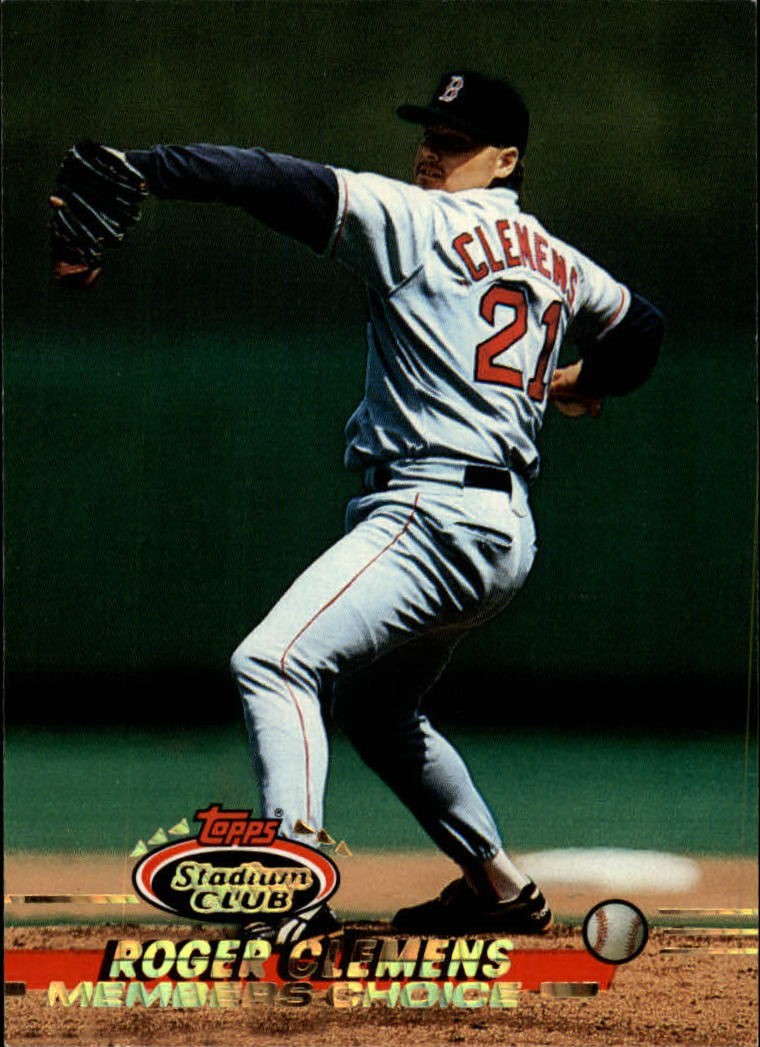 1993 Stadium Club #748 Roger Clemens MC