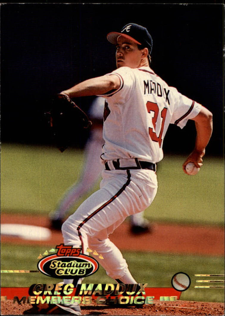 1993 Stadium Club #750 Greg Maddux MC