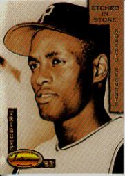 1993 Ted Williams Etched in Stone Clemente #ES1 Roberto Clemente/Youth