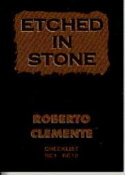 1993 Ted Williams Etched in Stone Clemente #ES10 Roberto Clemente/Checklist