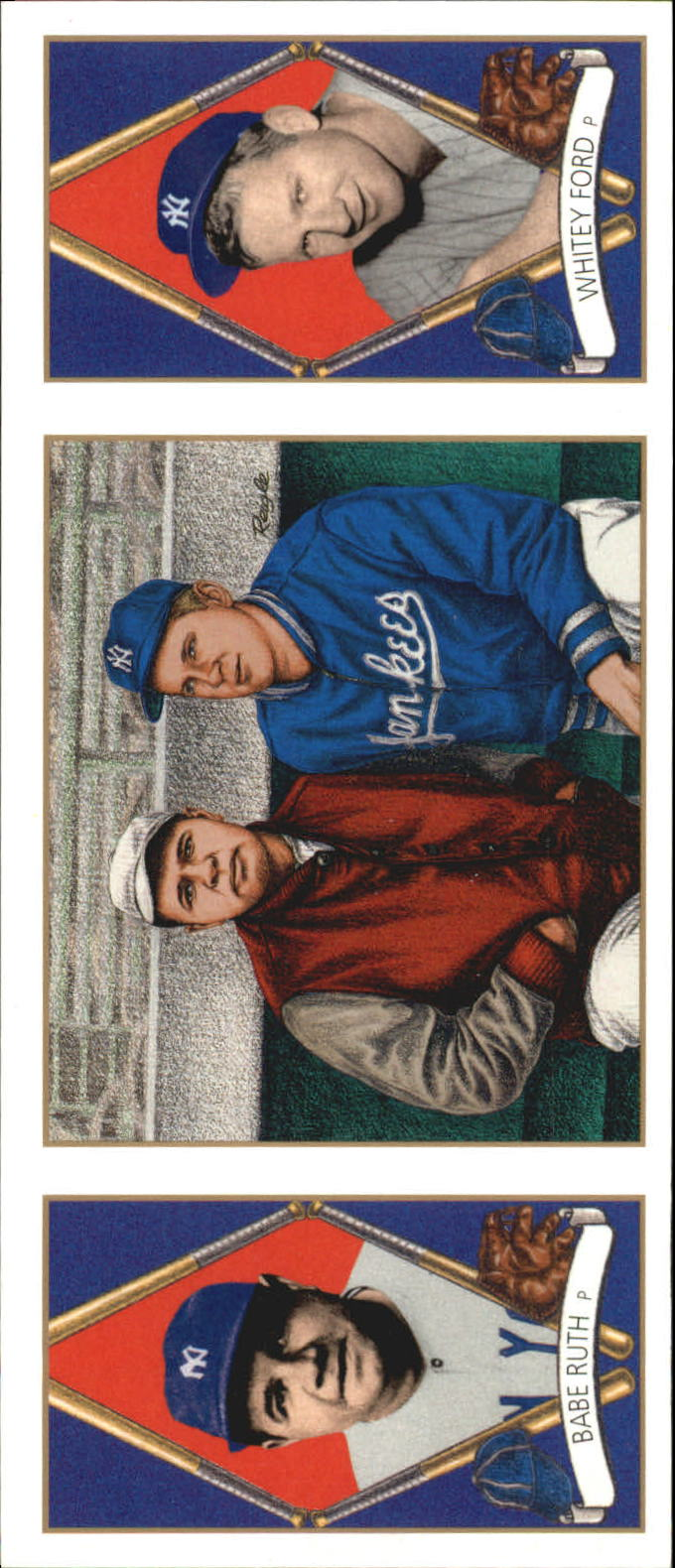 1993 Upper Deck All-Time Heroes #152 Babe Ruth/Whitey Ford