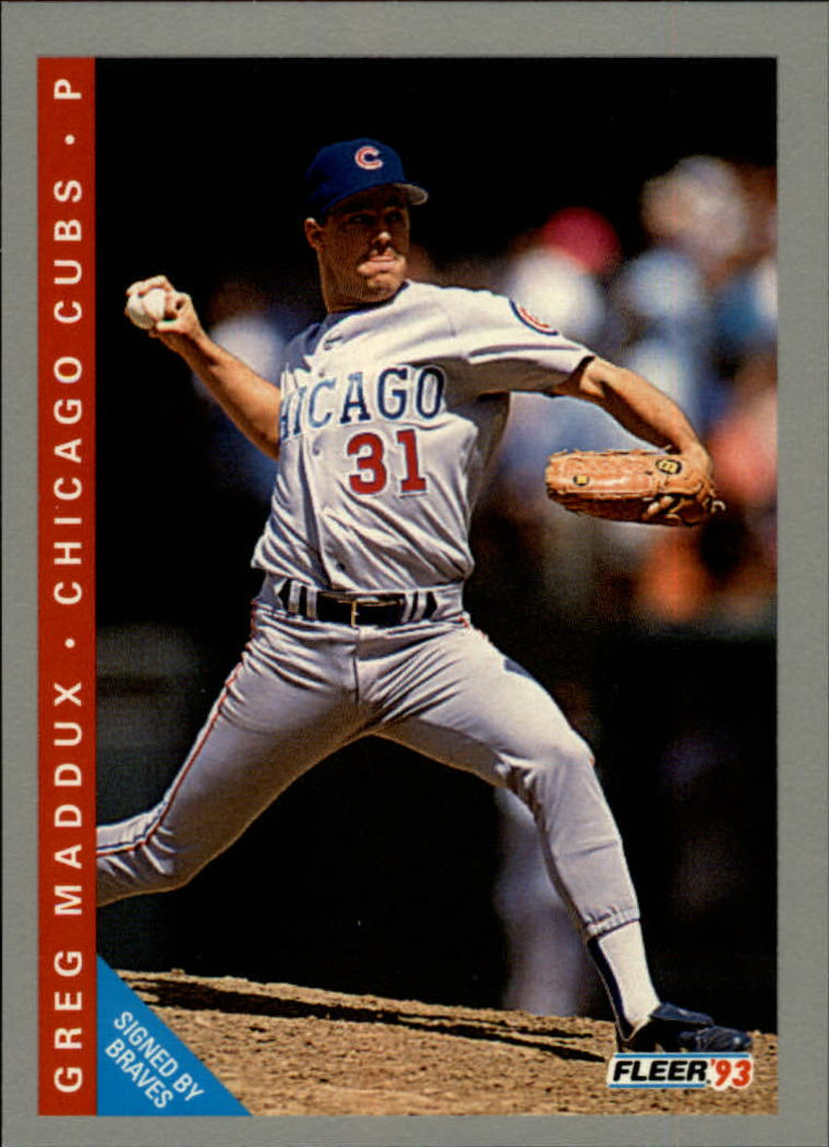 1993 Fleer #380 Greg Maddux
