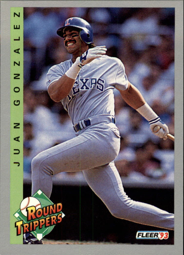 1993 Fleer #709 Juan Gonzalez RT