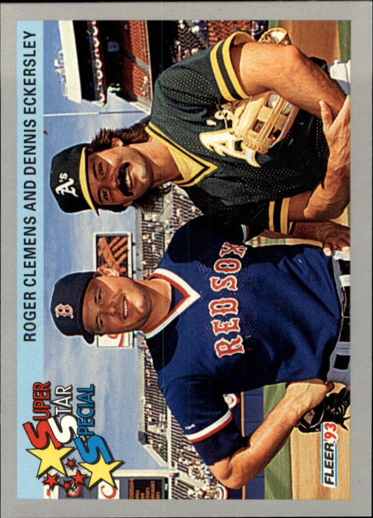 1993 Fleer #717 R.Clemens/D.Eckersley